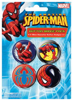 SPIDER-MAN - wall crawler Badges