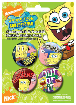 SPONGEBOB - and patrick Badge Pack