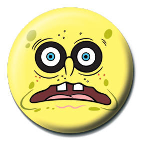 SPONGEBOB - black eyes Badge