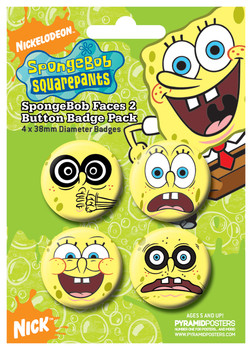 SPONGEBOB - faces 2 Badge Pack