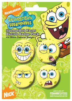SPONGEBOB - Faces Badge Pack