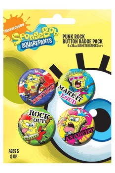 SPONGEBOB - punk Badge Pack