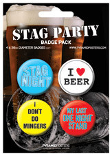 Badge set STAG PARTY