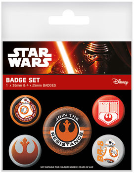 Star Wars Episode VII - Resistance Badge Pack