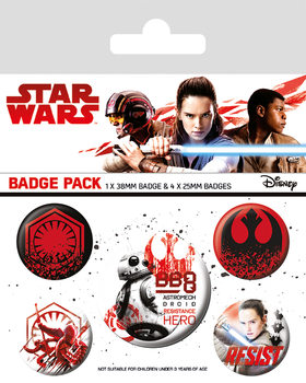 Star Wars The Last Jedi - Resist Badge Pack