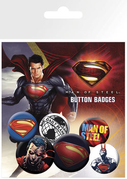 Badge set SUPERMAN MAN OF STEEL