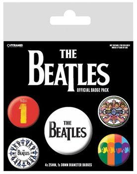 Badge set The Beatles - Black