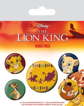 Badge set The Lion King - Hakuna Matata