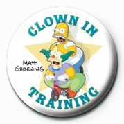 THE SIMPSONS - clown in training Badge