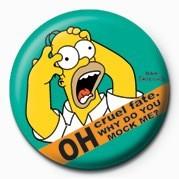 THE SIMPSONS - homer screamin' Badge