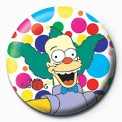 THE SIMPSONS - krusty polka Badge