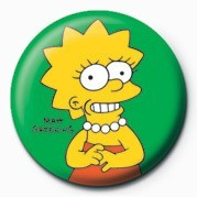 THE SIMPSONS - lisa Badges