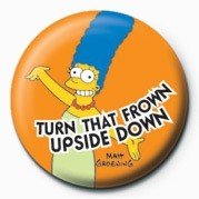 THE SIMPSONS - marge frown Badge