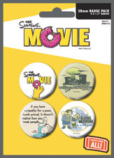 THE SIMPSONS MOVIE - environmentaly Badge Pack
