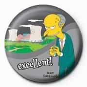 THE SIMPSONS - mr. burns excellent! Badge