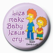 THE SIMPSONS - rod & todd baby ... Badge