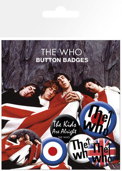 THE WHO - lyrics and logos Badge Pack