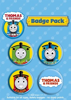 THOMAS AND FRIENDS Badge Pack