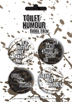 TOILET HUMOUR Badge Pack