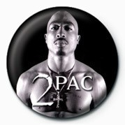 Tupac (B&W) Badges