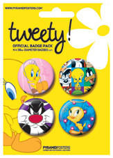 Badges TWEETY - looney tunes