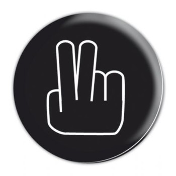 TWO FINGERS Badge