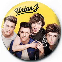 UNION J - yellow Badges