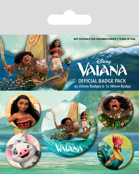 Vaiana - Characters Badge Pack
