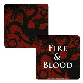Bases para copos Game Of Thrones - Targaryen