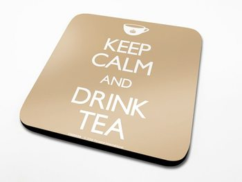 Bases para copos Keep Calm, Drink Tea