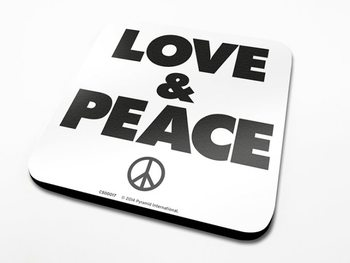 Bases para copos Love & Peace