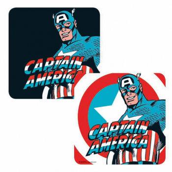 Bases para copos Marvel - Captain America