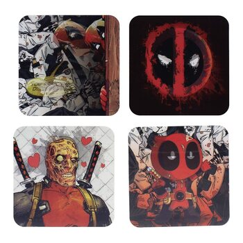 Bases para copos Marvel - Deadpool