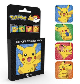 Bases para copos  Pokemon - Pikachu