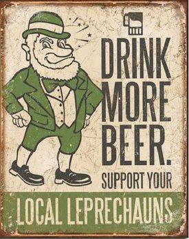BEER - Drink More Plaque métal décorée