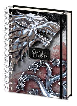 Bloco de notas Game Of Thrones - Stark & Targaryen