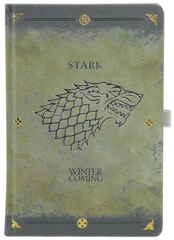 Bloco de notas Game Of Thrones - Stark Worn Premium