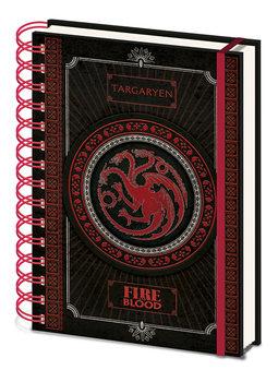 Bloco de notas Game Of Thrones - Targaryen