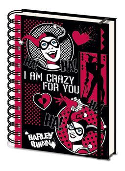 Bloco de notas Harley Quinn - I Am Crazy For You