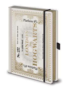 Bloco de notas Harry Potter - Hogwarts Express Ticket Premium