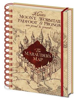 Bloco de notas Harry Potter - The Marauders Map