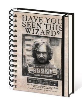Bloco de notas Harry Potter - Wanted Sirius Black