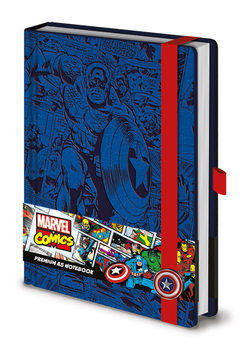 Bloco de notas Marvel - Captain America A5 Premium