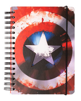 Bloco de notas Marvel - Captain America