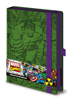 Bloco de notas Marvel - Incredible Hulk A5 Premium