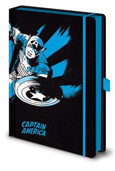 Bloco de notas Marvel Retro - Captain America Mono Premium
