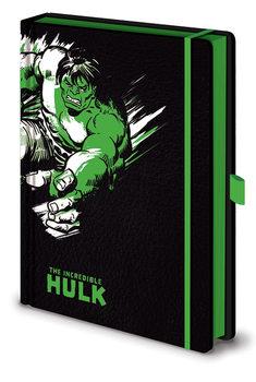 Bloco de notas Marvel Retro - Hulk Mono Premium