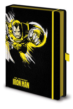 Bloco de notas Marvel Retro - Iron Man Mono Premium