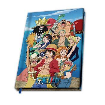 Bloco de notas One Piece - Straw hat Crew