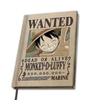 Bloco de notas One Piece - Wanted Luffy